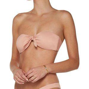 Eberjey So Solid Lolita Pink Bikini Bandeau Top S